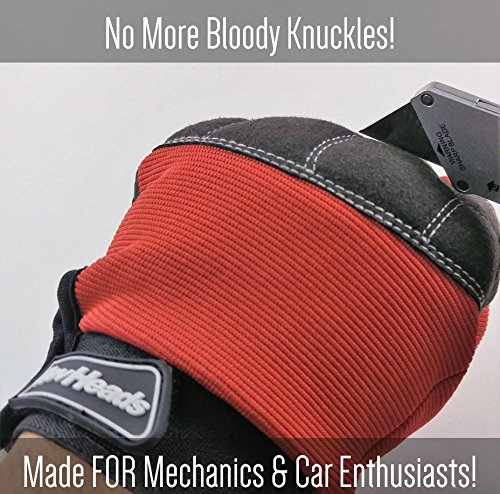 MECHANIC GLOVES For Working On Cars - Work Safety Gloves Protect Fingers And Hands - Large Size Fits Most Men, 1 Pair by RevHeads (Image #3)