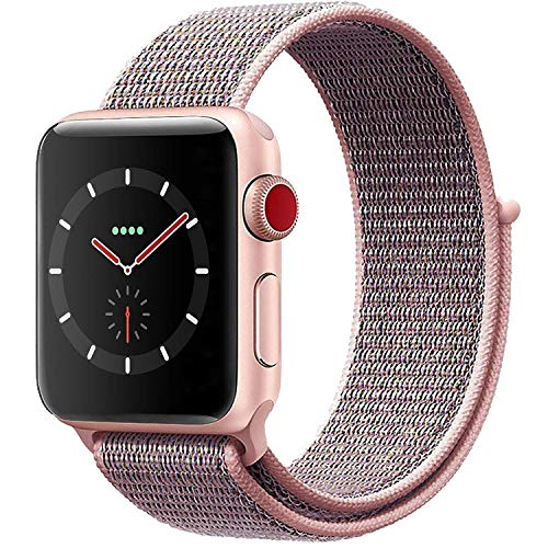 VATI Replacement Band Compatible for Apple Watch Band 38mm 42mm Soft Breathable Nylon Sport Loop...