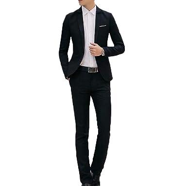 Kankanluck Men 1 Button Wedding Tops Blouse Blazer Jacket Flat
