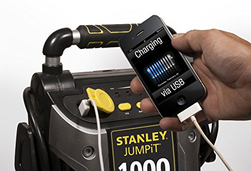 STANLEY J5C09 Power Station Jump Starter: 1000 Peak/500 Instant Amps, 120 PSI Air Compressor, Battery Clamps by STANLEY (Image #8)