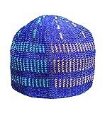 NDA Eid Koofi Muslim Men's Stretchable Kufi Turkey Self Design Prayer Cap Muslim Hat (Royal Blue)