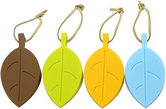 Door Stops Door Holders Door Stoper Silicone Colorful Leaves Leaf Door Wedges