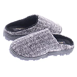 Gold Toe Boy's Jona Sweater Plush Fleece Lined Memory Foam Indoor/Outdoor House Slipper,Slip On Clog Shoe