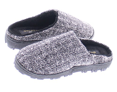 Gold Toe Boy's Jona Sweater Plush Fleece Lined Memory Foam Indoor Outdoor House Slipper,Slip On Clog Shoe