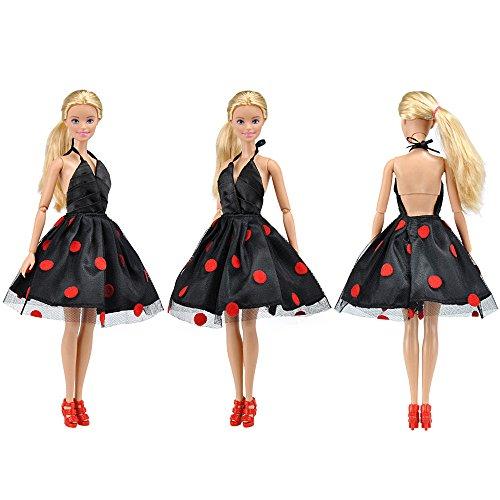 Amazon.es: E-TING Faldas Vestir Vestidos Ropa para Muñecas Barbie Ken Doll (Strip T Shirt Tops Jeans Pants Stylish): Juguetes y juegos