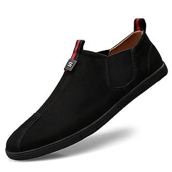 YAN Zapatos para Hombre Mocasines de Cuero de Gamuza Mocasines de conducción en Barca Zapatos Deportivos