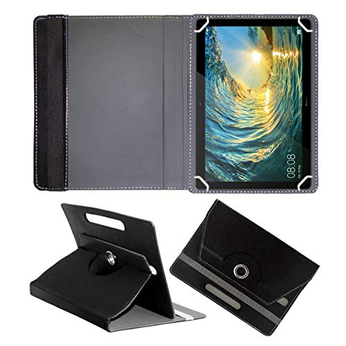 Fastway Rotating Leather Flip Case for Huawei MediaPad T5 Tablet (10.1 inch, 16GB, Wi-Fi + 4G LTE) Tablet Cover Stand Black