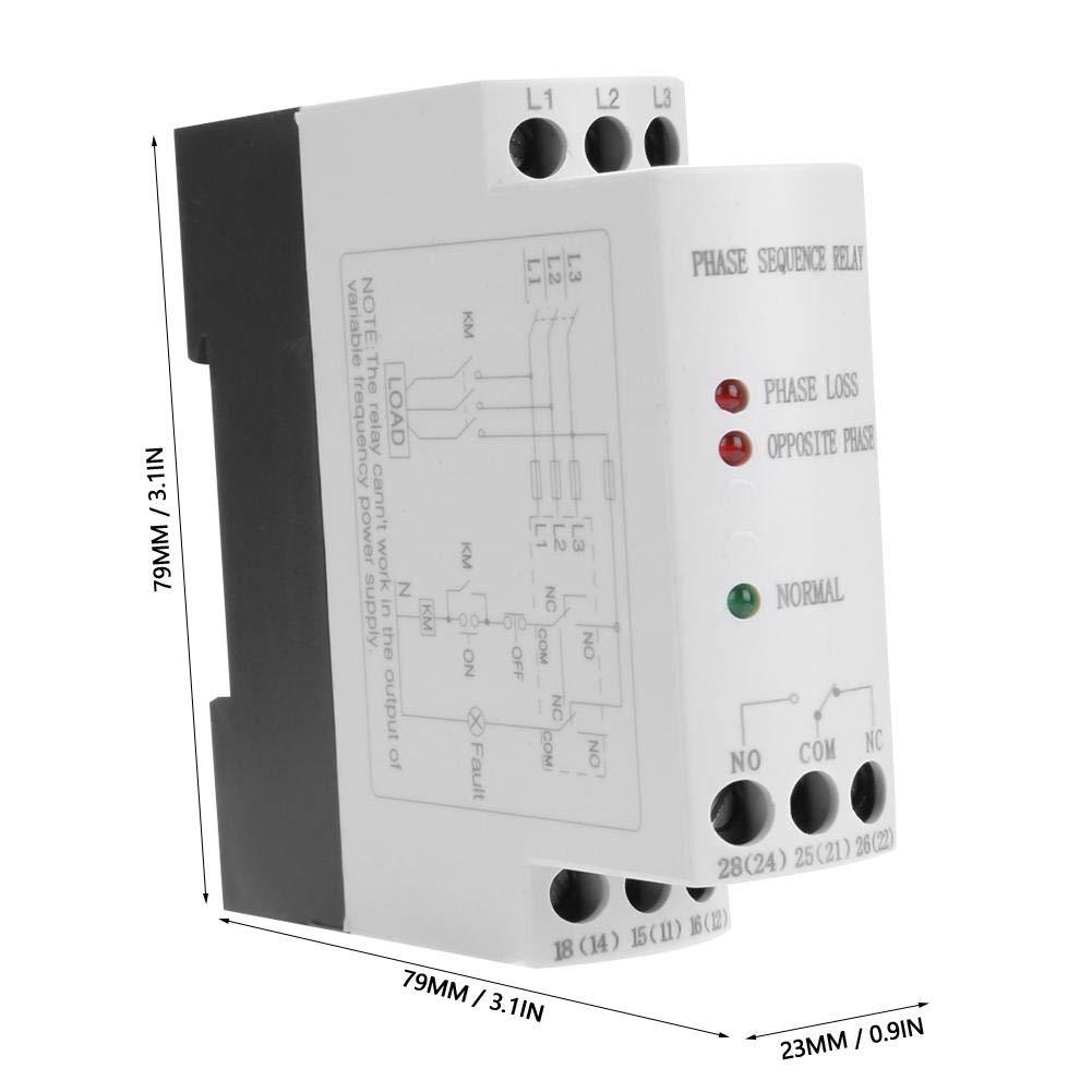 kein M/üllhaufen JVRD-6 3-Phasen-Sequenz-Ausfall-Spannungs/überwachungs-Schutzrelais 200-500VAC Arrester Device Wirklich gute Qualit/ätsprodukte