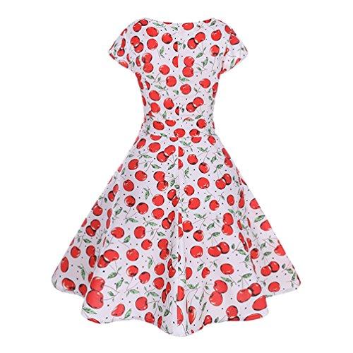 Swing Vestiti Stile Vestito Abito Floreale Sera Corta Manica Jitong Rockabilly Donna Anni 10 da Stampato per 50 Vintage Festa qTgBzwOf