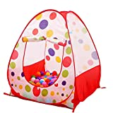 KINDEN Kids Play Tent, Indoor&Outdoor Pop Up House kid Play Tent Game Ball Pit PlayHouse Baby Beach Tent