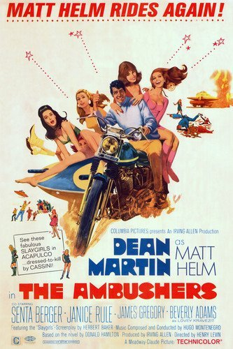 Dean Martin and Senta Berger and Janice Rule in The Ambushers 11x17 Mini Poster - Ambushers Poster