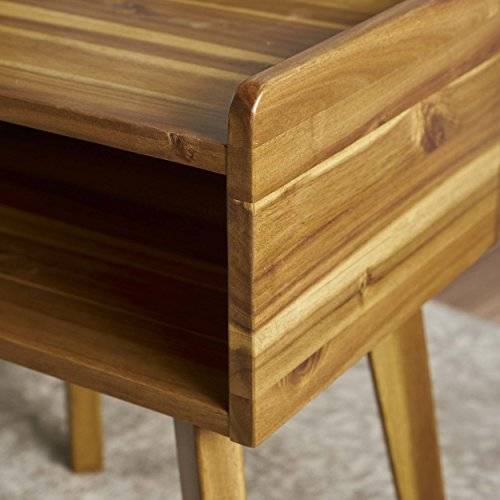 Alanna Natural Stained Acacia Wood Nightstand by GDF Studio (Image #2)