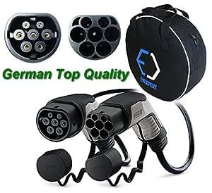 10% DESCUENTO!! PHOENIX CONTACT Alemán cable de carga superior (mejorada la segunda generación) Tipo2 - Tipo2 | 32 A | 3Phase | longitud 4 m | 22 kW + libre bolsa compacta de transporte