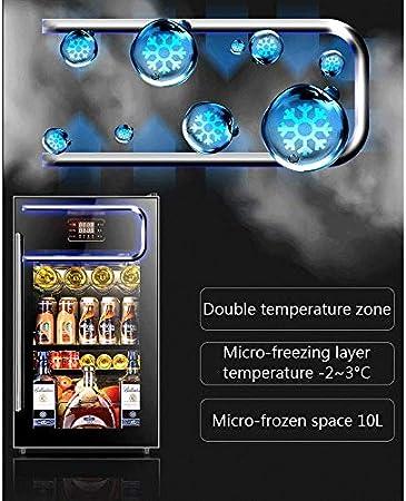 YFGQBCP Encimera termoeléctrica Enfriador de Vino/Chiller Rojo y Blanco Bodega con Digital Pantalla de Temperatura, Zona Horizontal, Independiente Frigorífico Cristal Ahumado Puerta Operación Nevera