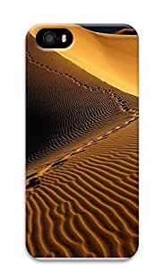 iPhone 5 5S Case Nature Footprints Sand 3D Custom iPhone 5 5S Case Cover