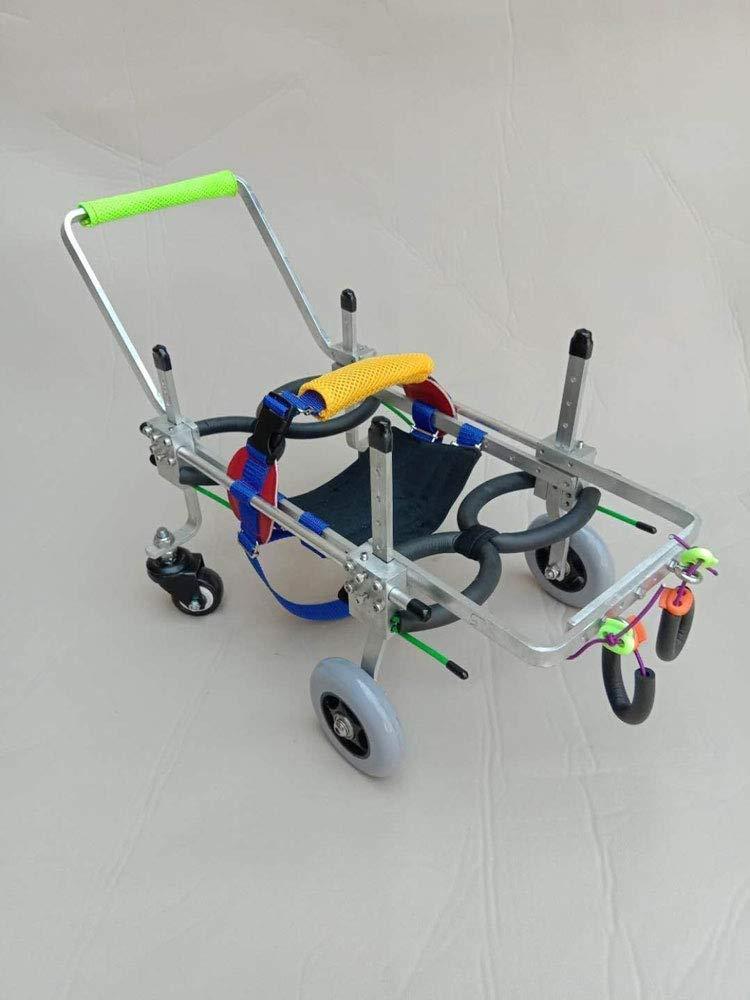 XXS Portable Adjustable Dog Car Pet Wheelchair (XXXS-XL), Back Height 16-68 Cm, Weight 2-50 Kg, Rear Leg Repair, Lightweight Aluminum Alloy, Cat Best Friend (Size   XXS)