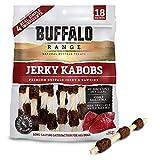 Buffalo Range Rawhide Dog Treats | Healthy, Grass-Fed Buffalo Jerky Raw Hide Chews | Hickory Smoked Flavor | Jerky Kabob, 18 Count For Sale