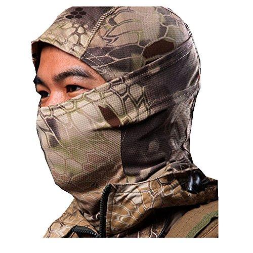 Camouflage Army Cycling Motorcycle Cap Balaclava Hats Full Face Mask Balaclava Ski Mask: Full Face Mask+Headband-Motorcyle Mask-Tactical Hood Vibola (B-Brown)