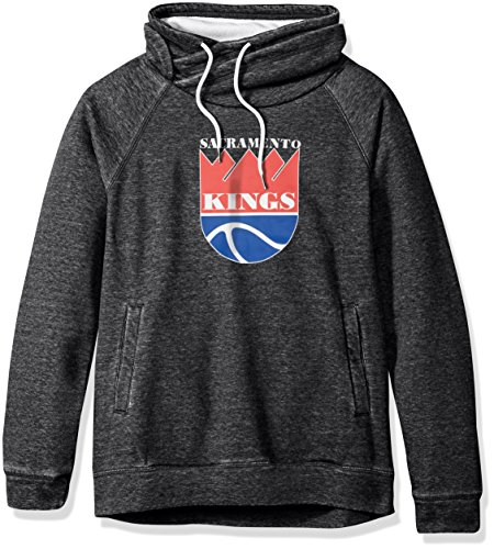 Touch by Alyssa Milano NBA Sacramento Kings Adult Women Spiral Sweatshirt, Medium, Charcoal ()