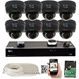 GW Security 8CH 4K NVR Network 1920P Sony Exmor R Starvis IP Security Camera System - 8 x HD 1920P 5.0 Megapixel 4X Optical Motorized Zoom Outdoor Indoor IP POE Dome Camera