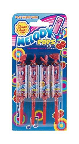 Chupa Chups Strawberry Melody Pops, 4x15g