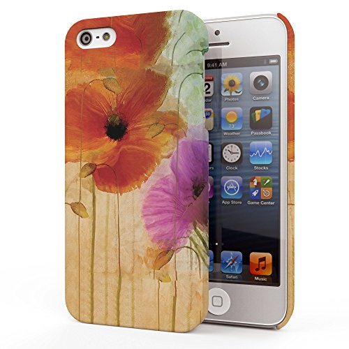 Koveru Back Cover Case for Apple iPhone 5S - Flower Painting