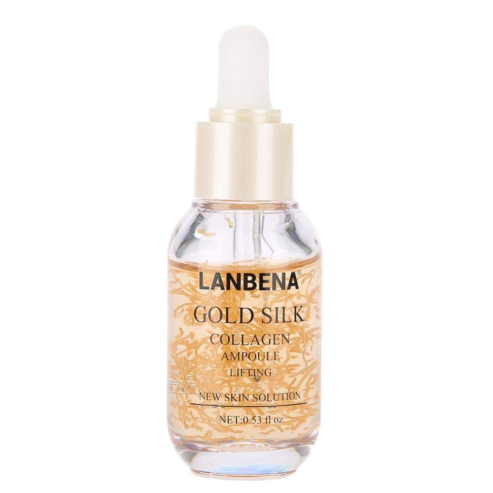 LANBENA Anti-aging Whiten Moisturize Facial Serum, Collagen Gold Silk Hyaluronic Acid Snail Secretion Anti-aging Moisturizing Facial Skin Essence Semme