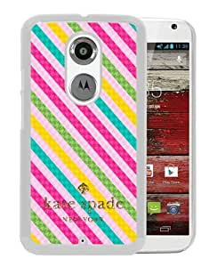 Personalized Design With Kate Spade 63 White Motorola Moto X 2nd Generation Protective Cover Case