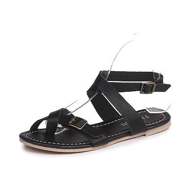 9b1dad23c96930 LHWY Sandalen Damen Frauen Teens Flachen Casual Outdoor Slingback  Espadrille Rom Binden Sandalen Plattform Sommer Schuhe