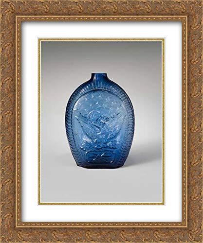 Kentucky Art Glass Frame - Kentucky Glass Works - 20x24 Gold Ornate Frame and Double Matted Museum Art Print - Flask