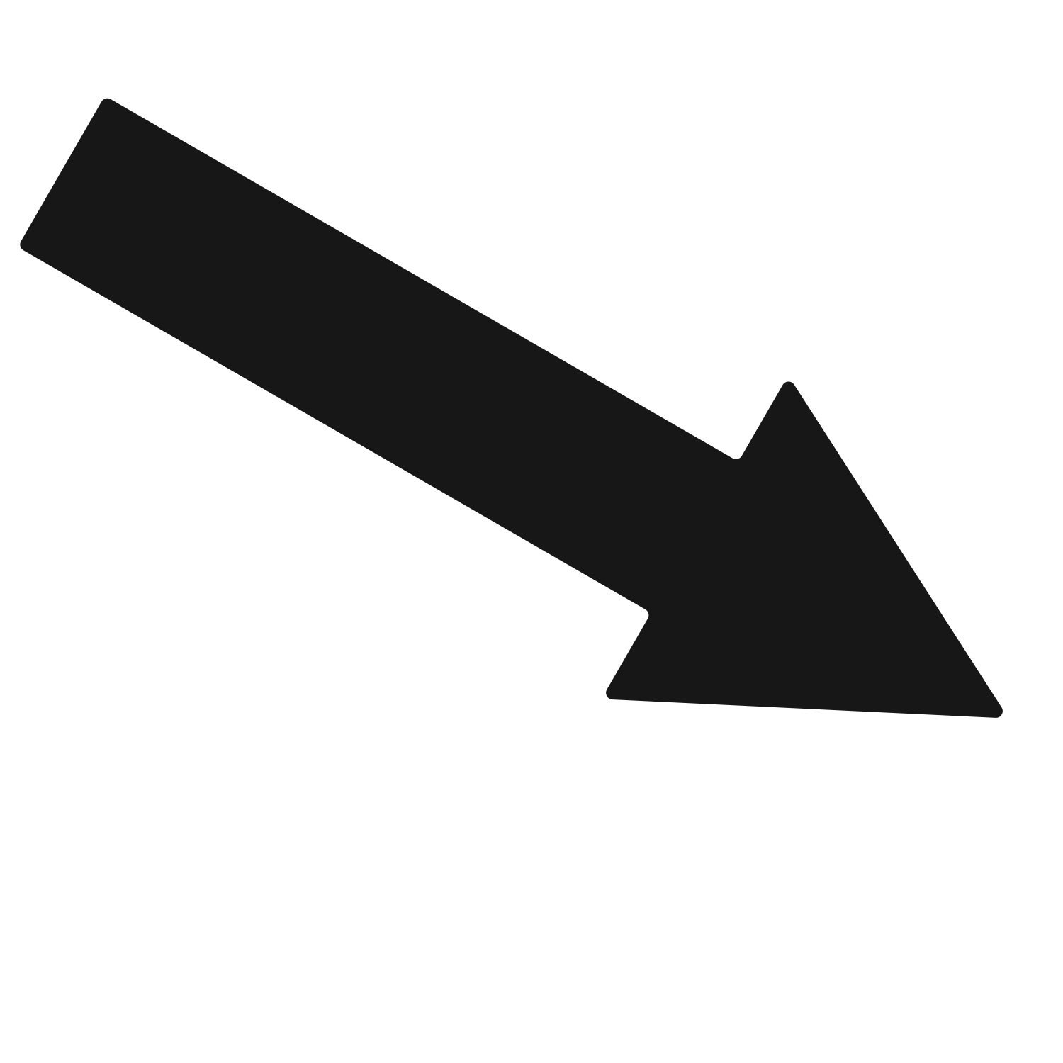 LiteMark 10 Inch Black Adhesive Narrow Arrow Decal Stickers for Floors, Walls, and Steps - Pack of 12