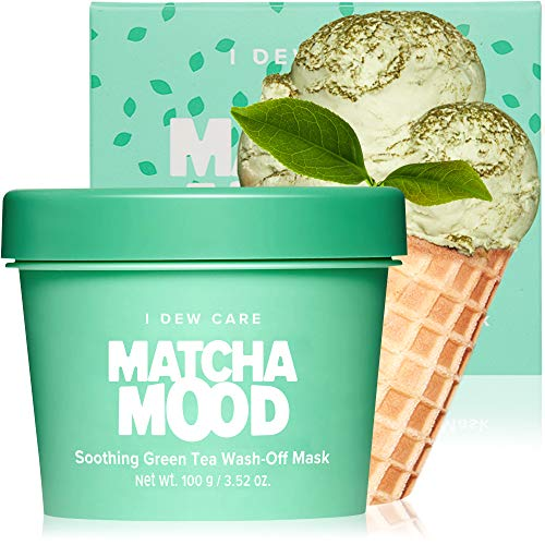 I DEW CARE Matcha Mood | Soothing Green Tea Wash-Off Facial Clay Mask | Gifts for women who has everything | Korean…