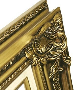 Imperial Frames 11 by 14-Inch/14 by 11-Inch Picture/Photo Frame, Antique Gold Molding with Rich Floral Designs and a Canvas Liner