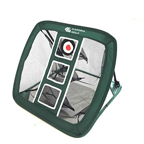 Kapora Golf Chipping Net, Backyard or Indoor Pop up Portable and Collapsible Golfing Target Practice and Training Aid, Green
