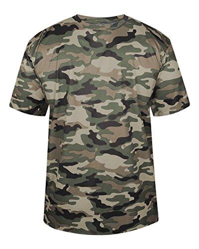 Youth XL Dark Green  Camo Moisture Wicking Jersey Uniform Sh