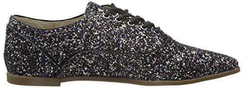 London 01 15p68 Zapatos Derby Cordones Glitter Multicolor de 1 para Multicolor Mujer Buffalo T7wdaqT