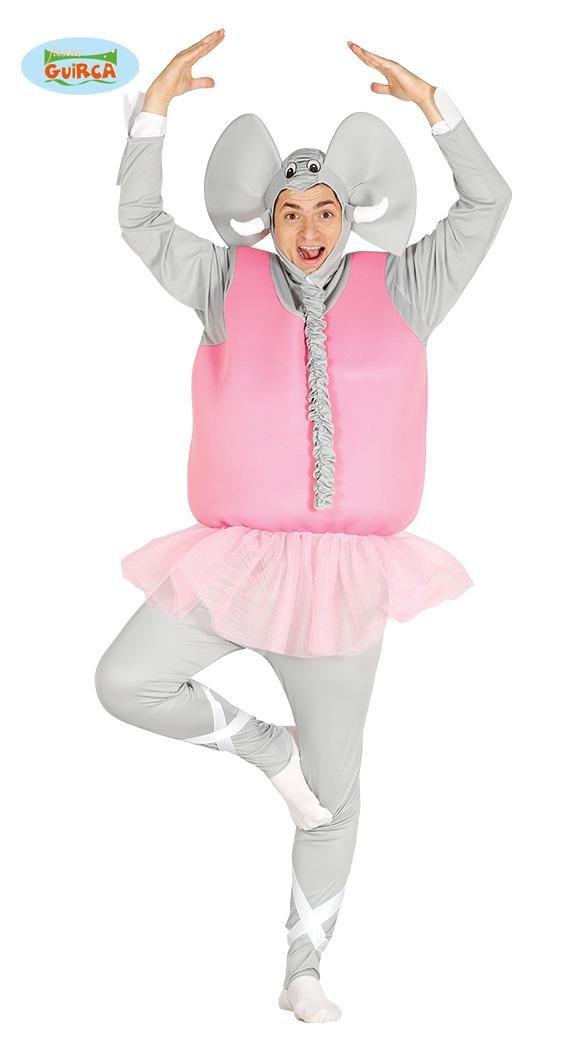 Fiestas Guirca Costume da Elefante Ballerino Adulto, Colore Grigio e Rosa, Large, 84607