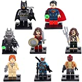 Batman v Superman : L'Aube de la justice Batman, Superman, Wonder Woman, Lex Luthor, Aquaman Mini figures Caractère - Jeux de construction - 8 pièces