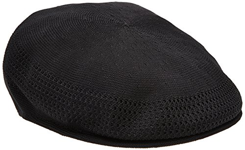 Kangol Men's Tropic Ventair 504 Cap, (Kangol Black Hat)