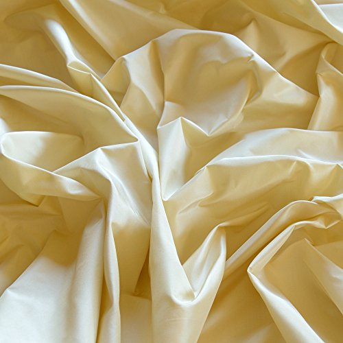 (Cream Silk Taffeta, 100% Silk Fabric, By The Yard, 54