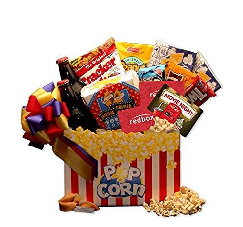 Snack Basket Gift Basket Movie Night Mania Gift Box with 10.00 Redbox Gift ()