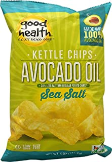 product image for Good Health Inc. Kettle Style Avocado Oil Potato Chips Sea Salt -- 5 oz - 2 pc