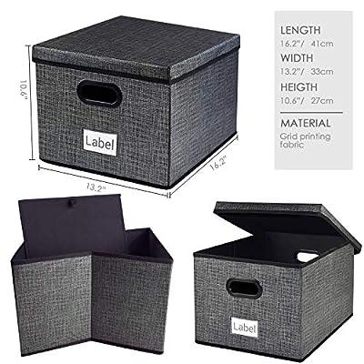 Homyfort Storage Bins Collapsible Durable Storage Containers Cubes Basket Drawer Organizer