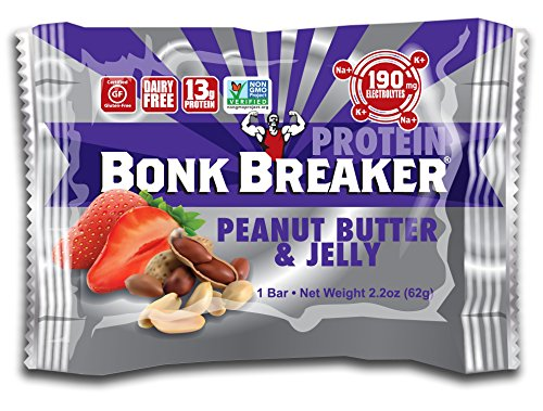 Bonk Breaker High Protein Bar, Peanut Butter & Jelly, 2.2 Ounce 12 Count