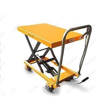 Carretilla manual de plataforma - Elevador hidráulico de carro, Operación manual de tipo movimiento Rueda