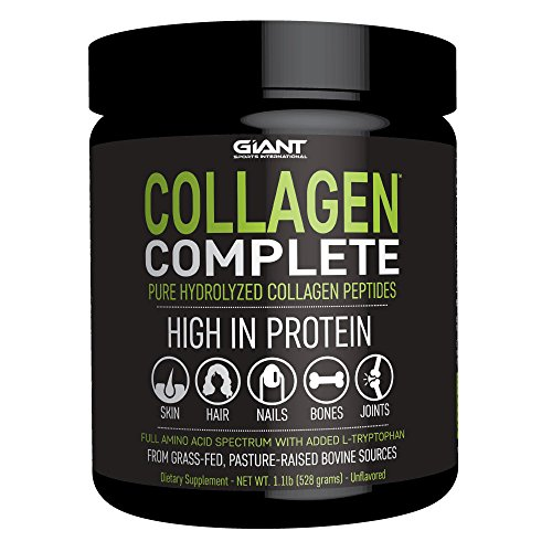 Collagen Complete Hydrolyzed Collagen Powder with All Essential Amino Acids, Grass-Fed, Pasture-Raised, Type 1 and Type 3 Collagen Peptides - 1 LB.