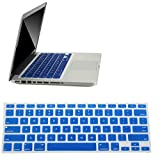 For Sale Low Price Blue Keyboard Cover Rubber Silicone Protector Skin Case for Macbook Air 13' & Macbook Pro 13' 15' 17' (With or W/out Retina Display). This Thin Cover Protector Is Easy to Install and Protects From Key Wear Spills and Dust. Perfect Macbook Accessories