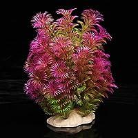 Planta Plástico Decoración para Acuario Pecera Color Púrpura
