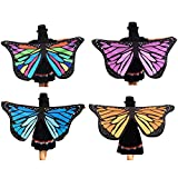Butterfly Wings Shawl Fairy Wings For Women Soft Fabric Ladies Nymph Pixie ICODOD Costume Accessory