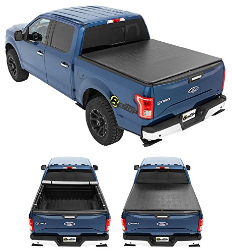 Bestop 1811301 ZipRail Soft Tonneau Cover For 2004-2018 Ford F-150 Crew Cab/Super Cab Styleside (Except Heritage Model)